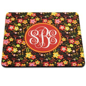 Black Back Rectangle Mouse Pad, 7.75 x 9.25 x .22(5.5mm). Polyester with open cell black rubber back Thumbnail